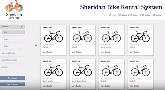 Sheridan Bike Rental App